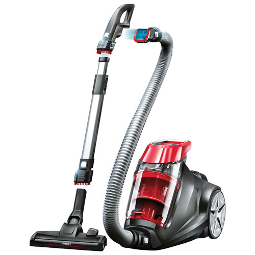 bissell expert bagless canister vacuum red