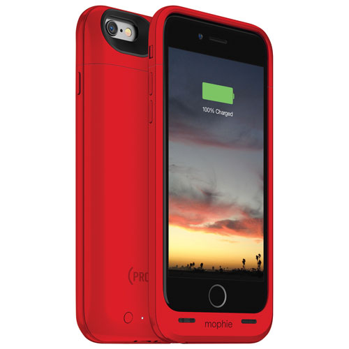 Étui-batterie juice pack air de mophie pour iPhone 6/6s - Rouge
