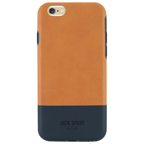 JACK SPADE Colour Block iPhone 6/6s Fitted Hard Shell Case - Tan/Navy
