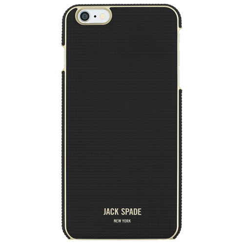 JACK SPADE iPhone 6 Plus/6s Plus Wrap Fitted Hard Shell Case - Black