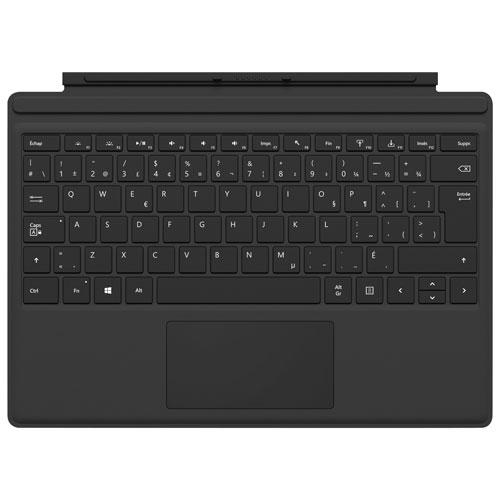 Étui-clavier Type Cover pour Surface Pro de Microsoft - Noir - Français