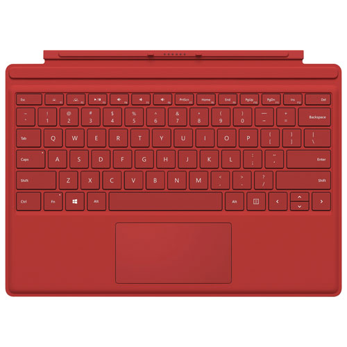 Microsoft Surface Pro Type Cover - Red - English