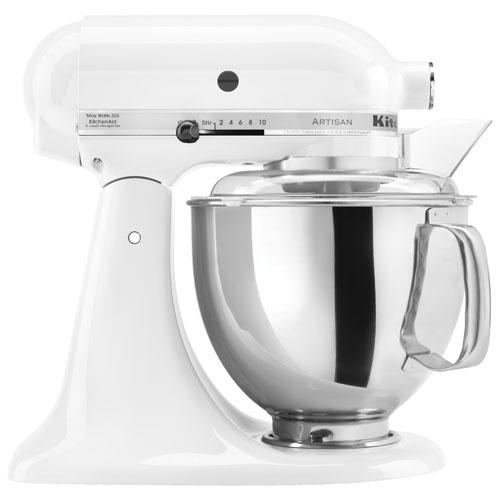 KitchenAid Artisan Tilt-Head Stand Mixer - 5Qt - 325-Watt - White KSM150PSWH