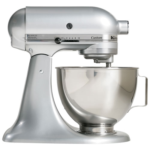 Batteur sur socle de la série Custom de KitchenAid - 4,5 pte - 325 W - Chrome métallique