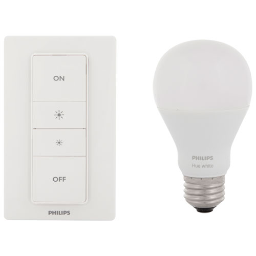Trousse de gradateur pour système d'éclairage DEL connecté HUE de Philips