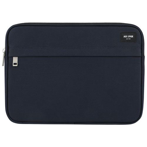 Housse de JACK SPADE pour portable de 15 po (JSLT-001-LNNVY) - Bleu marine