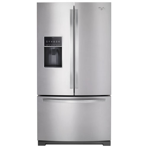 "Whirlpool 36"" 26.8 Cu. Ft. French-Door Refrigerator with Ice & Water Dispenser - Stainless Steel"