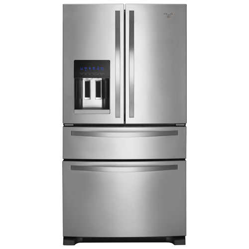 """Whirlpool 36"""" 24.5 Cu. Ft. French Door Refrigerator with Ice & Water Dispenser - Stainless Steel"""