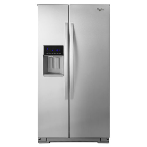"Whirlpool 36"" 20.6 Cu. Ft. Counter-Depth Side-by-Side Refrigerator - Stainless Steel"