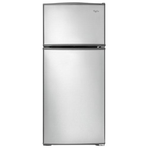 Réfrigérateur à congélateur supérieur 29 po 16 pi3 de Whirlpool - Acier inoxydable