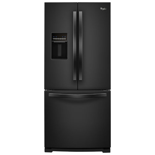 "Whirlpool 30"" 19.7 Cu. Ft. Refrigerator with Water Dispenser - Black-on-Black"