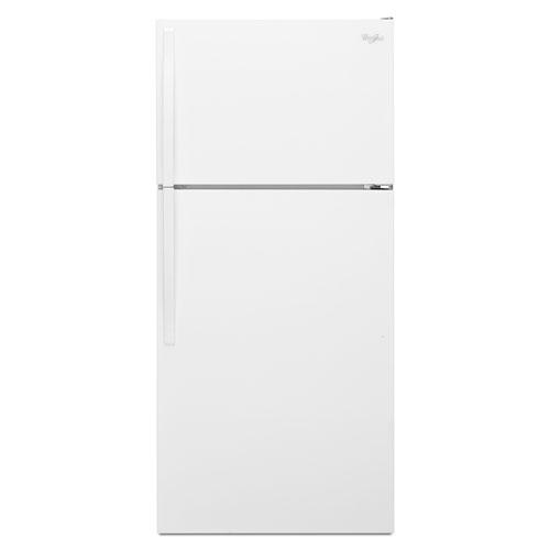 Réfrigérateur à congélateur en haut de 28 po et 14,3 pi3 de Whirlpool - Blanc