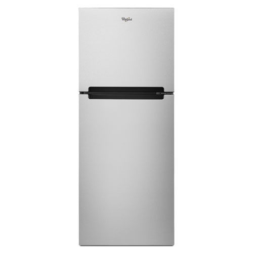 "Whirlpool 25"" 10.7 Cu. Ft. Top Freezer Refrigerator - Monochromatic Stainless Steel"