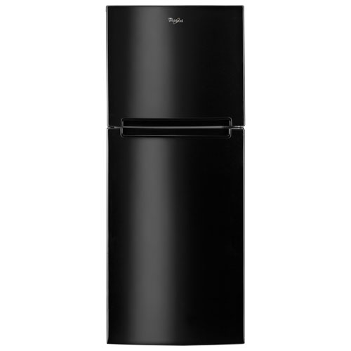 "Whirlpool 25"" 10.7 Cu. Ft. Top Freezer Refrigerator - Black"