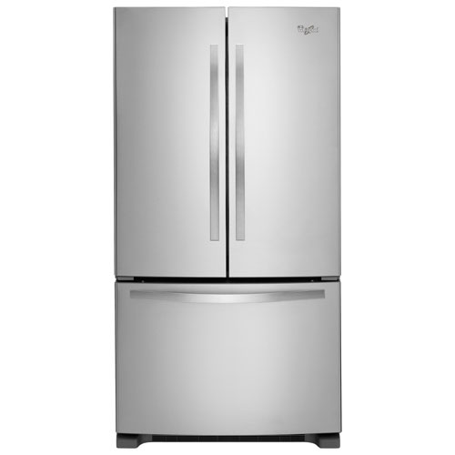 """Whirlpool 33"""" 22.1 Cu. Ft. French Door Refrigerator with LED Lighting - Stainless Steel"""