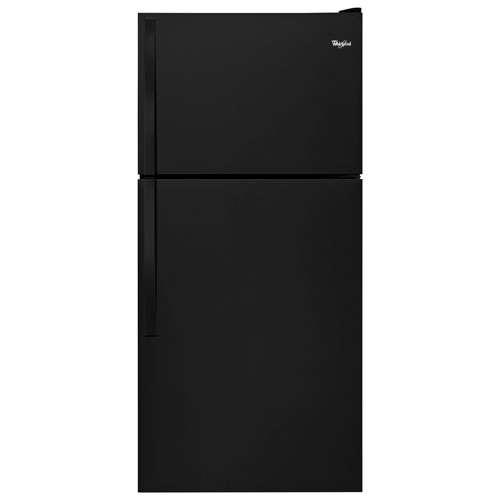 "Whirlpool 30"" 18.2 Cu. Ft. Top Freezer Refrigerator - Black"