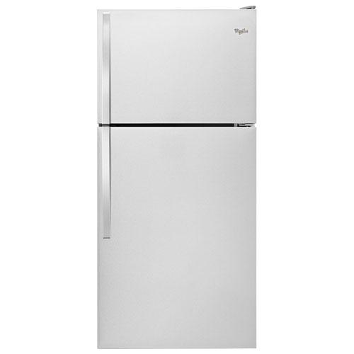"Whirlpool 30"" 18.2 Cu. Ft. Top Freezer Refrigerator - Stainless Steel"