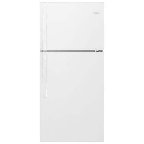 "Whirlpool 30"" 19.2 Cu. Ft. Top Freezer Refrigerator with LED Lighting - White"