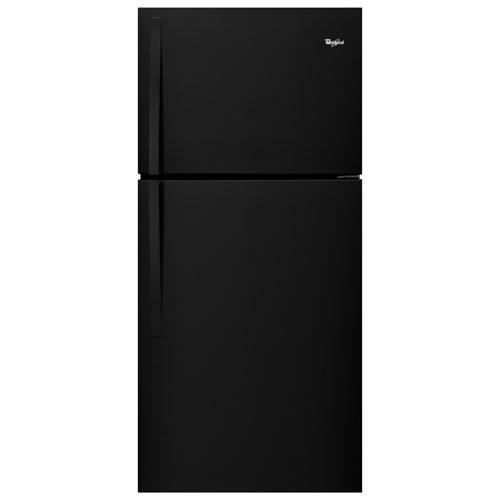 Réfrigérateur à congélateur supérieur à DEL 19,23 pi3 30 po de Whirlpool - Noir