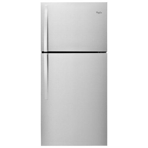 Réfrigérateur à congélateur supérieur de 19,23 pi3 30 po à DEL de Whirlpool - Acier inoxydable