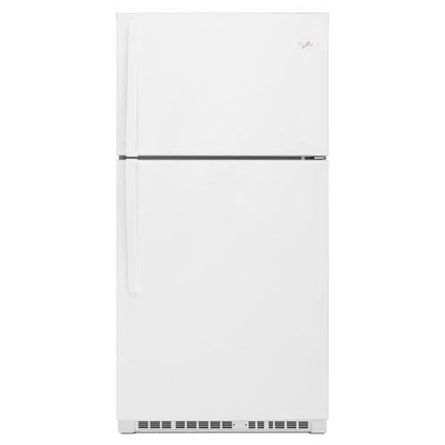 Réfrigérateur à congélateur supérieur avec éclairage DEL 21,31 pi3 33 po de Whirlpool - Blanc