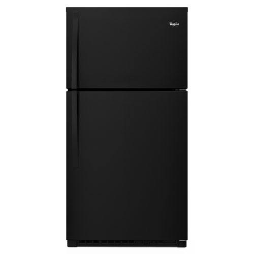 "Whirlpool 33"" 21.3 Cu. Ft. Top Freezer Refrigerator with LED Lighting - Black"