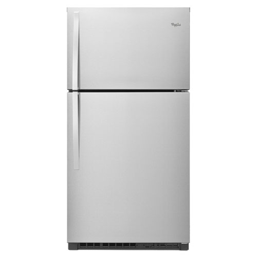 "Whirlpool 33"" 21.3 Cu. Ft. Top Freezer Refrigerator with LED Lighting - Stainless Steel"
