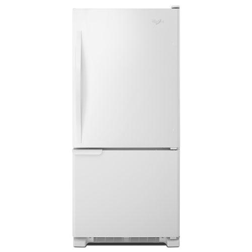 Réfrigérateur à congélateur en bas avec éclairage DEL 18,5 pi3 30 po de Whirlpool - Blanc sur blanc
