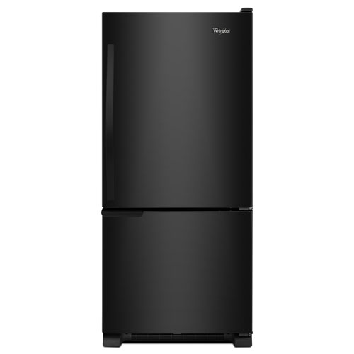 Réfrigérateur à congélateur en bas avec éclairage DEL 18,5 pi3 30 po de Whirlpool - Noir sur noir