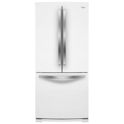 Réfrigérateur à deux portes de 30 po et 19,7 pi3 avec éclairage DEL de Whirlpool - Blanc glacier