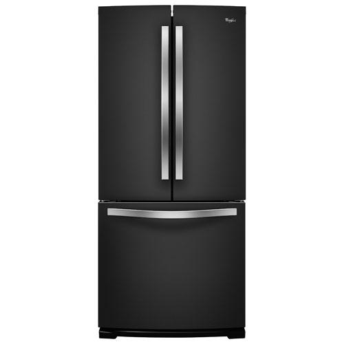 "Whirlpool 30"" 19.7 Cu. Ft. Refrigerator with LED Lighting - Black Ice"
