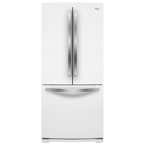 "Whirlpool 30"" 19.7 Cu. Ft. Refrigerator with LED Lighting - White Ice"