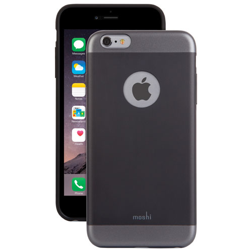 Étui rigide ajusté iGlaze Armour de Moshi pour iPhone 6/6s - Noir