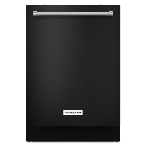 "KitchenAid 24"" 46 dB Tall Tub Built-In Dishwasher with Stainless Steel Tub (KDTE104EBL) - Black"