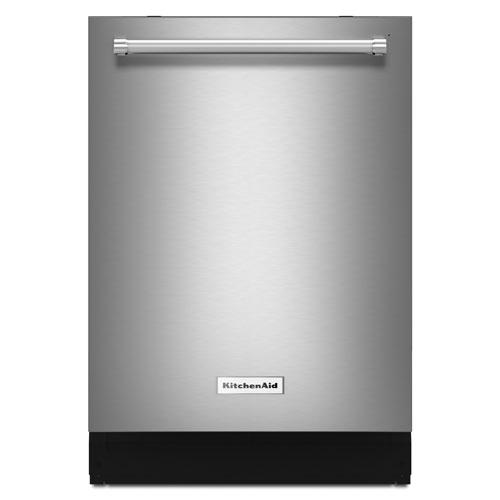 Lave-vaisselle encastrable grande capacité 24 po 44 dB avec cuve inox KitchenAid (KDTM354ESS) - Inox