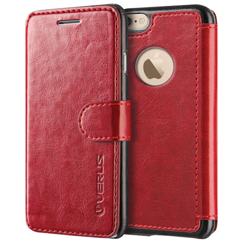 Verus Layered Dandy Diary iPhone 6/6s Fitted Hard Shell Case - Red