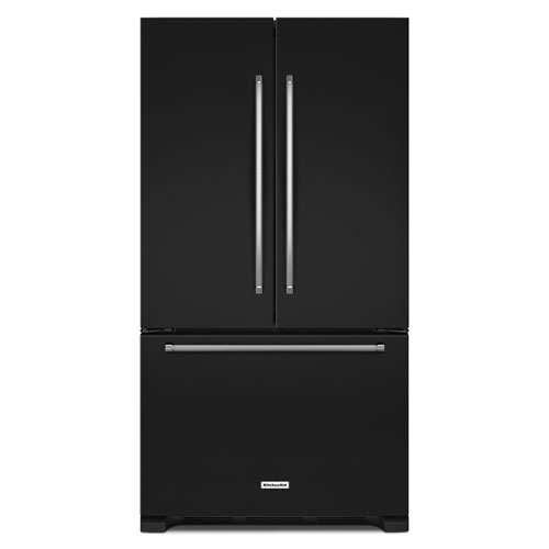 "KitchenAid 36"" 25.2 Cu. Ft. French Door Refrigerator with Internal Water Dispenser - Black"
