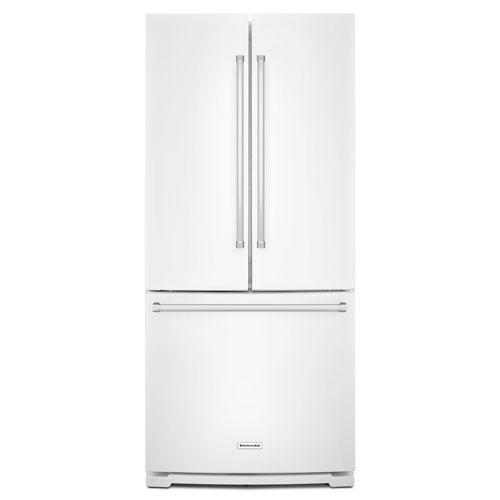 "KitchenAid 30"" 19.7 Cu. Ft. French Door Refrigerator with Water Dispenser - White"