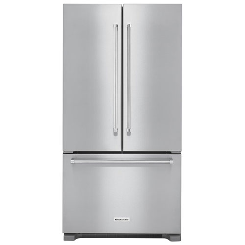"KitchenAid 36"" 21.9 Cu. Ft. Counter-Depth French Door Refrigerator - Stainless Steel"