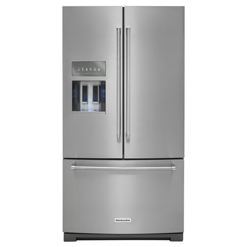 """KitchenAid 36"""" 26.8 Cu. Ft. French Door Refrigerator with Ice & Water Dispenser - Stainless Steel"""