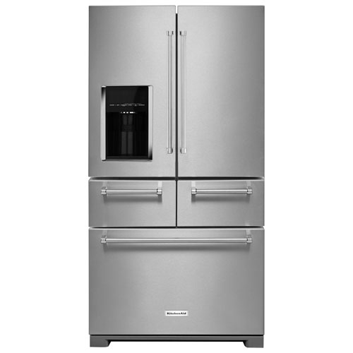 "KitchenAid 36"" 25.8 Cu. Ft. French Door Refrigerator with Ice & Water Dispenser - Stainless Steel"
