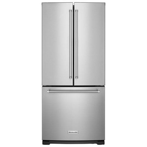 "Kitchenaid 30 19 7 Cu Ft French Door Refrigerator With: KitchenAid 30"" 19.7 Cu. Ft. French Door Refrigerator With Water Dispenser"