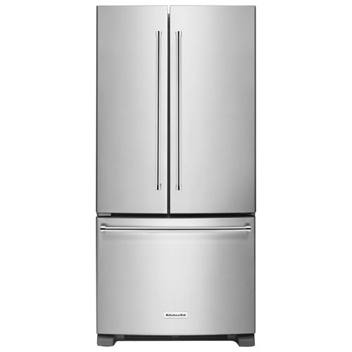 "KitchenAid 33"" 22.1 Cu. Ft. French Door Refrigerator with Internal Water Dispenser - Stainless Steel"