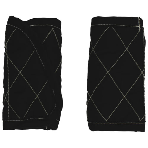 Mint Marshmallow Infant Car Seat Belt Strap Cover - Black