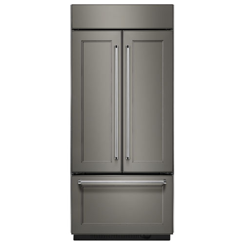 """KitchenAid 30"""" 20.8 Cu. Ft. French Door Refrigerator with LED Lighting - Panel-Ready"""
