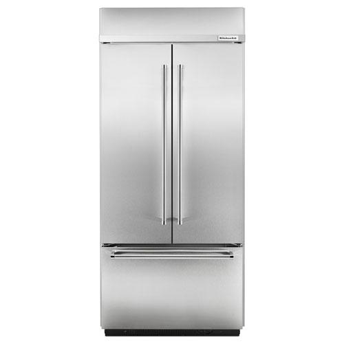Réfrigérateur à deux portes avec éclairage à DEL de 36 po et 20,8 pi3 de KitchenAid - Inox