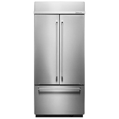"KitchenAid 37"" 20.8 Cu. Ft. French Door Refrigerator (KBFN506ESS) - Stainless Steel"