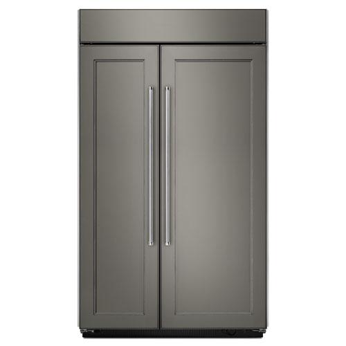 "KitchenAid 42.25"" 25.5 Cu. Ft. Side-by-Side Refrigerator (KBSN602EPA) - Panel-Ready"