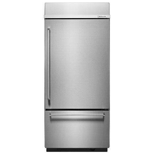 Réfrigérateur congélateur inférieur 35,25po et 20,9pi3 KitchenAid (KBBR206ESS) - Acier inoxydable