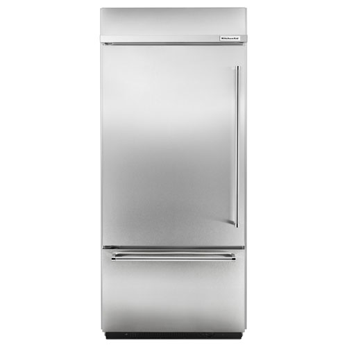 "KitchenAid 36"" 20.9 Cu. Ft. Bottom Mount Refrigerator (KBBL206ESS) - Stainless Steel"